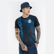 Camisa Grêmio Momentus Careca Meia Malha Marinho