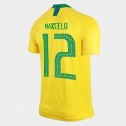 Camisa Seleção Brasileira I 2018 N°12 MARCELO