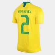 CAMISA SELEÇÃO BRASILEIRA OF.1 WC2018 N°2 DANI ALVES