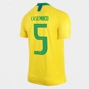 CAMISA SELEÇÃO BRASILEIRA OF.1 WC2018 N°5 CASEMIRO