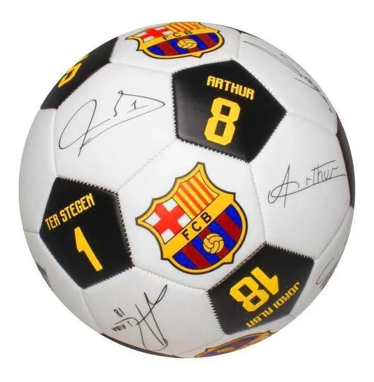 Bola Barcelona Maccabi Autografada