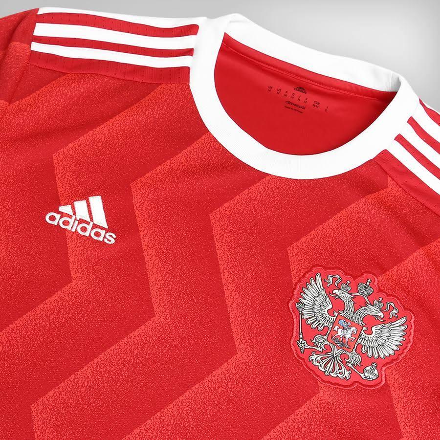 Camisa Russia Adidas Home 2017 S/Nº - Torcedor