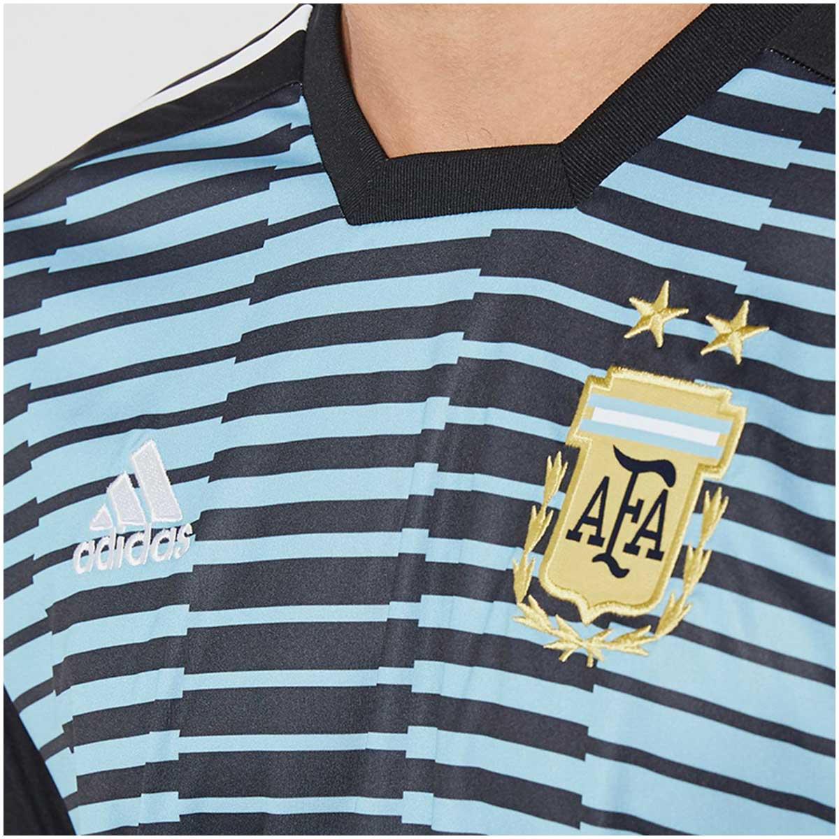 Camisa Argentina Pré Jogo Adidas 2018 8e7d410053f53