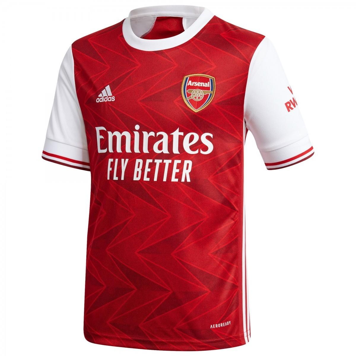 Camisa Arsenal Home Adidas 2020-21 Infantil