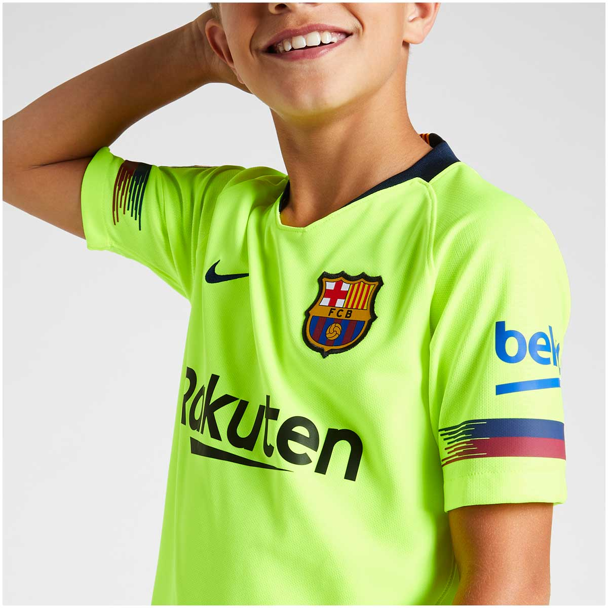 Camisa Barcelona Away Nike 2018/19 Infantil