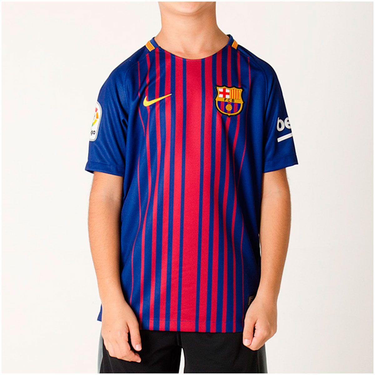 Camisa Barcelona Home Nike 2017 Infantil