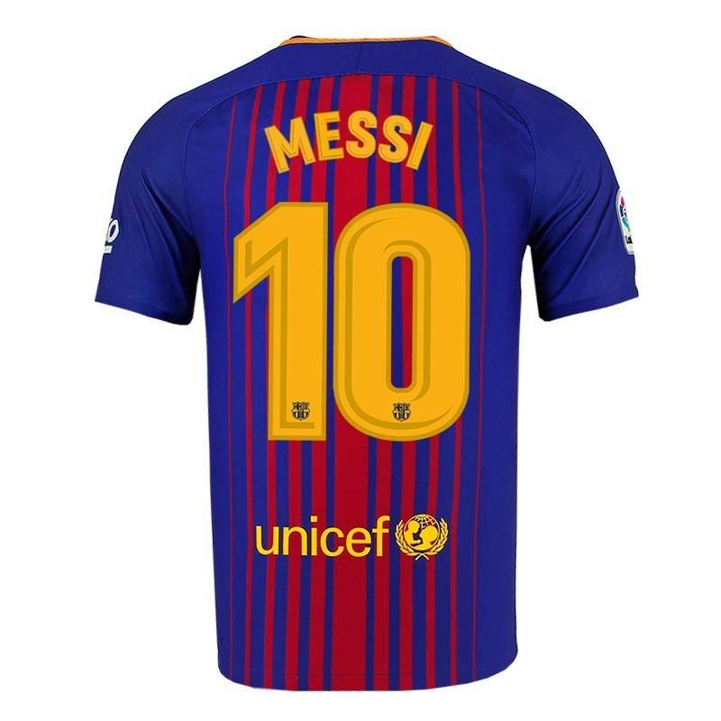 Camisa Barcelona I Home 2017/18 #10 Messi