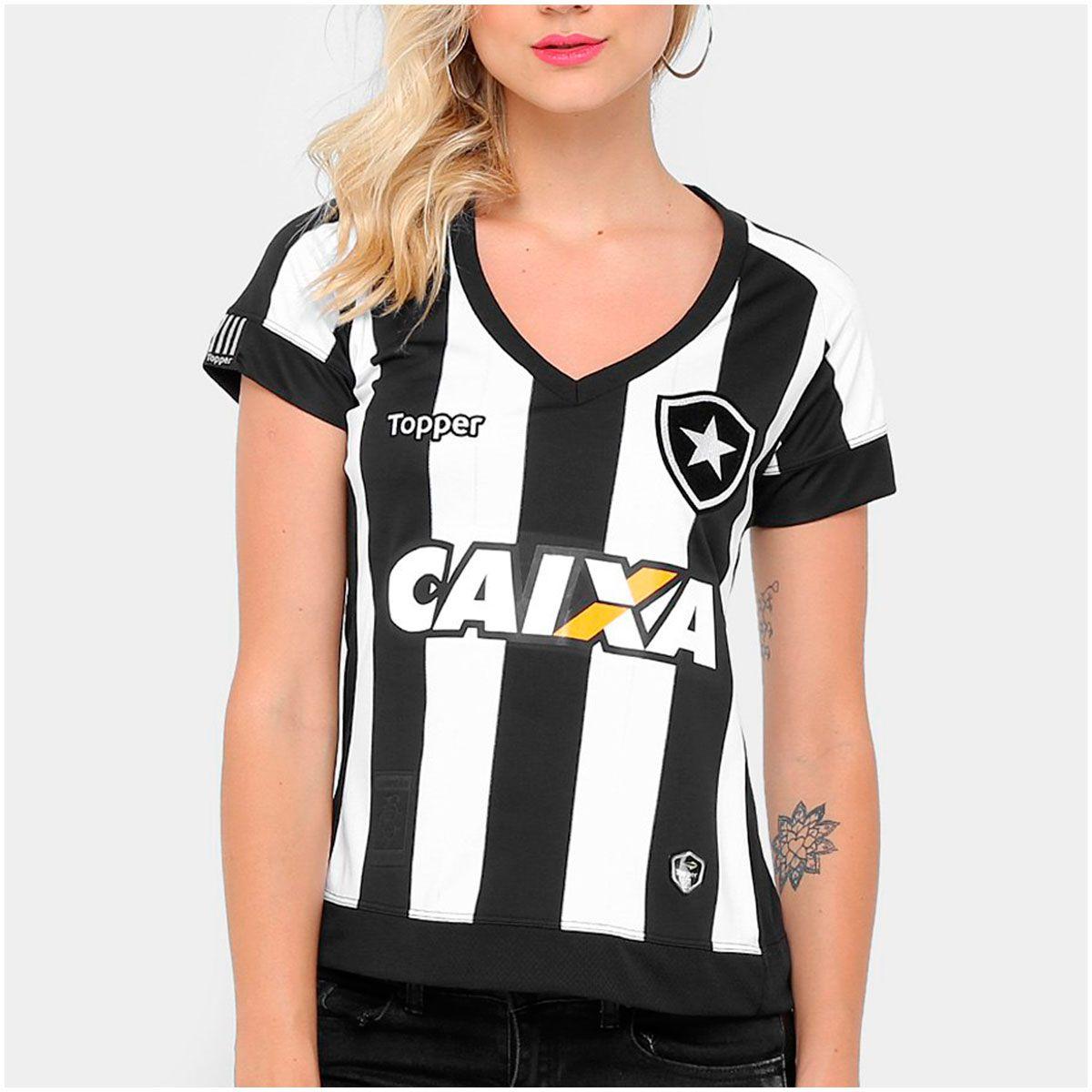 d38b90ba2d Camisa Botafogo I Topeer 2017 18 Feminina - Futebol Cia - Paixao por  Futebol !