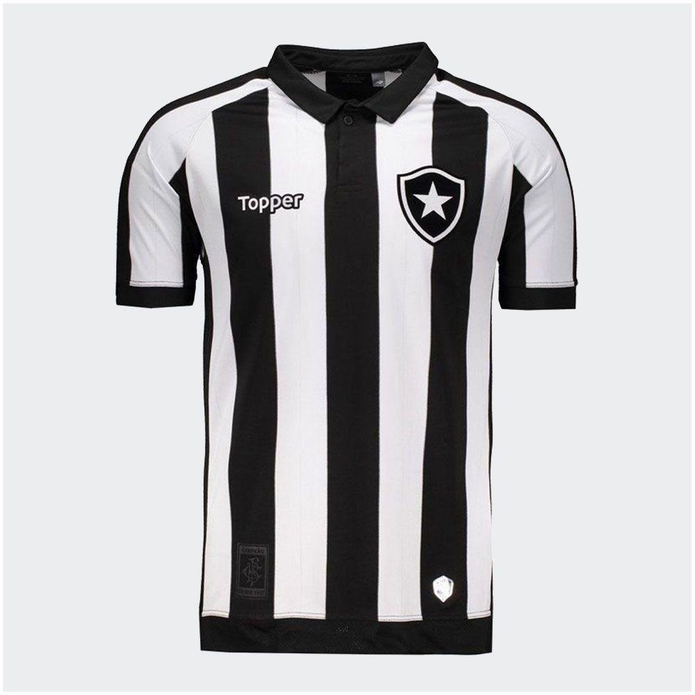 Camisa Botafogo I Topper 2017 S/P - 2ª Qualidade