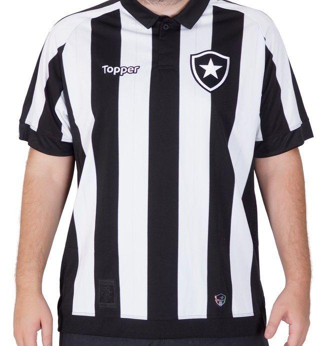 Camisa Botafogo OF.1 Home 2017 18 S Patrocínio c02c7f1bc9d8e