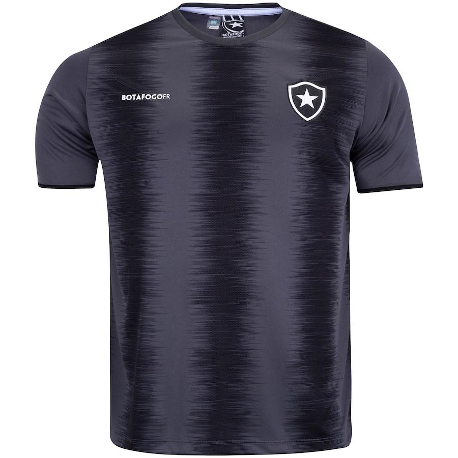 Camisa Botafogo Part Braziline Masculino 100% Poliester Preto