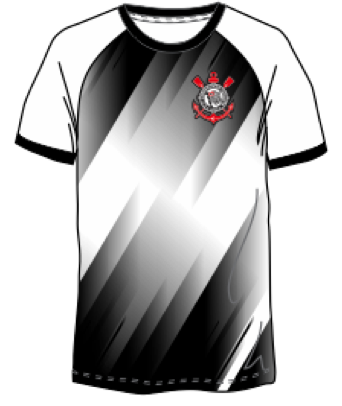 Camisa Corinthians Diagonal Spr Sports Mascuino