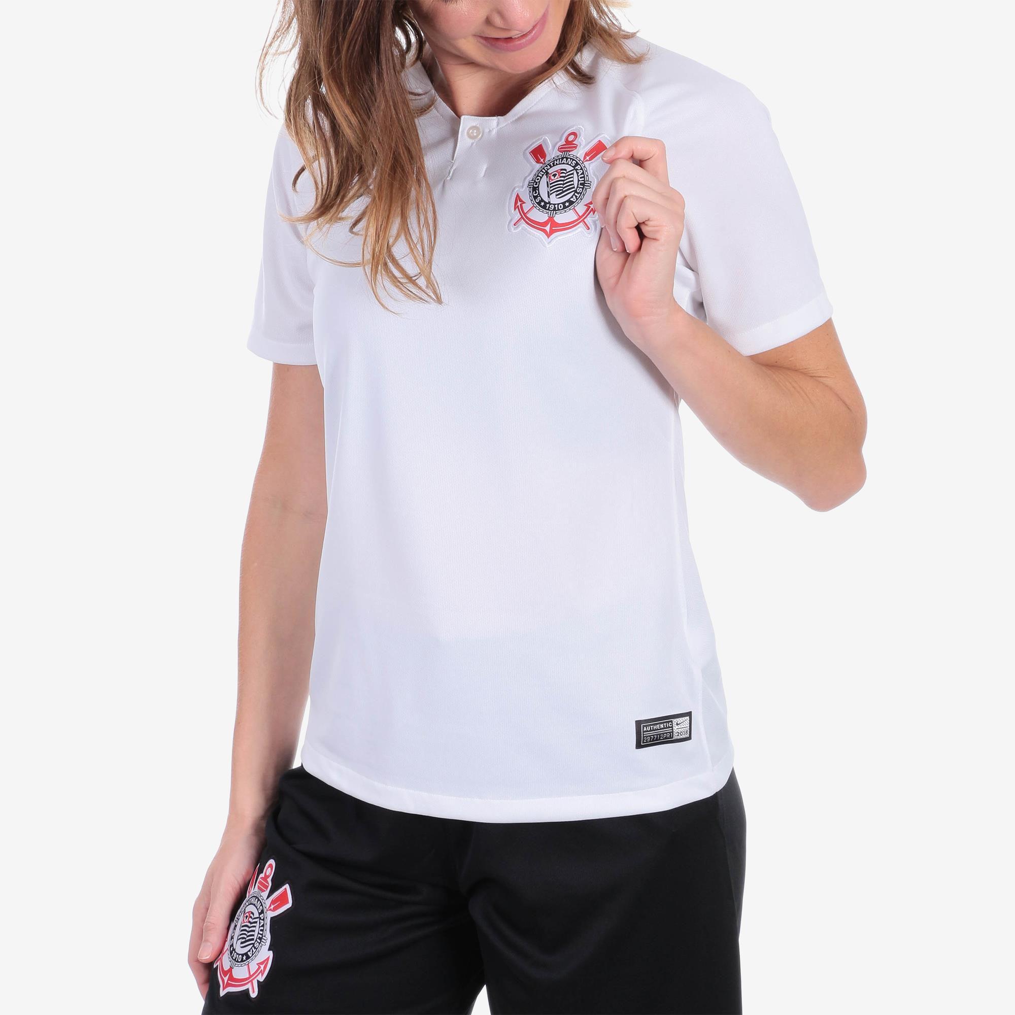 Camisa Corinthians I Nike 2018/19 Feminina