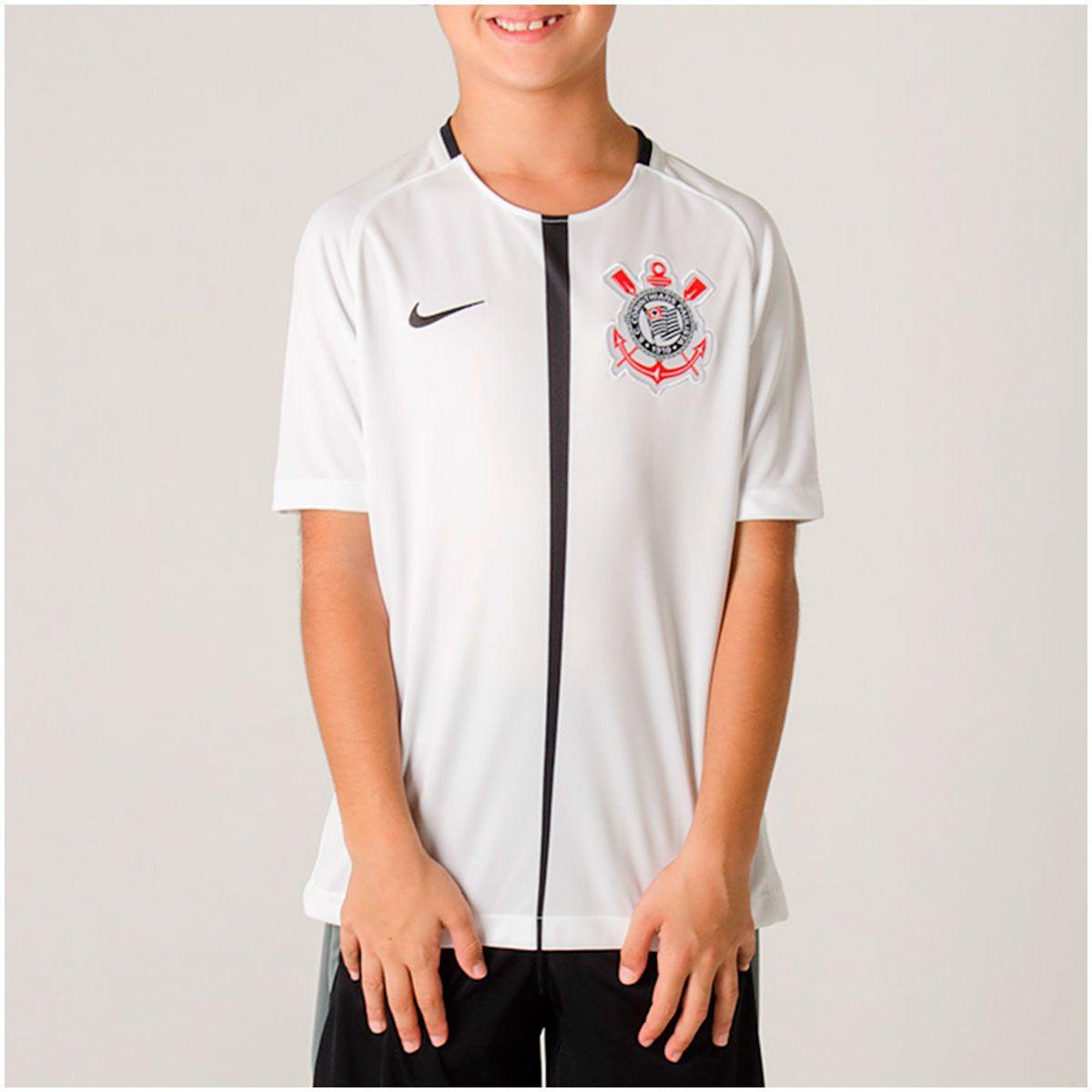 Camisa Corinthians I Nike 2018/19 Infantil