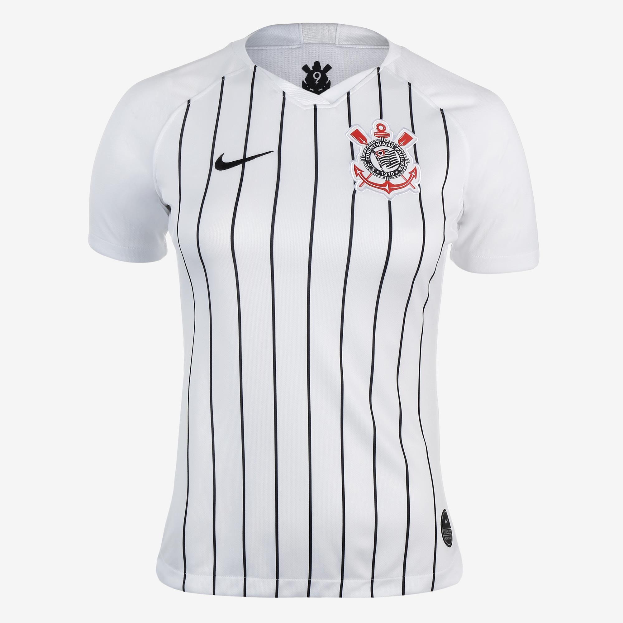 Camisa Corinthians I Nike 2019/20 Feminina