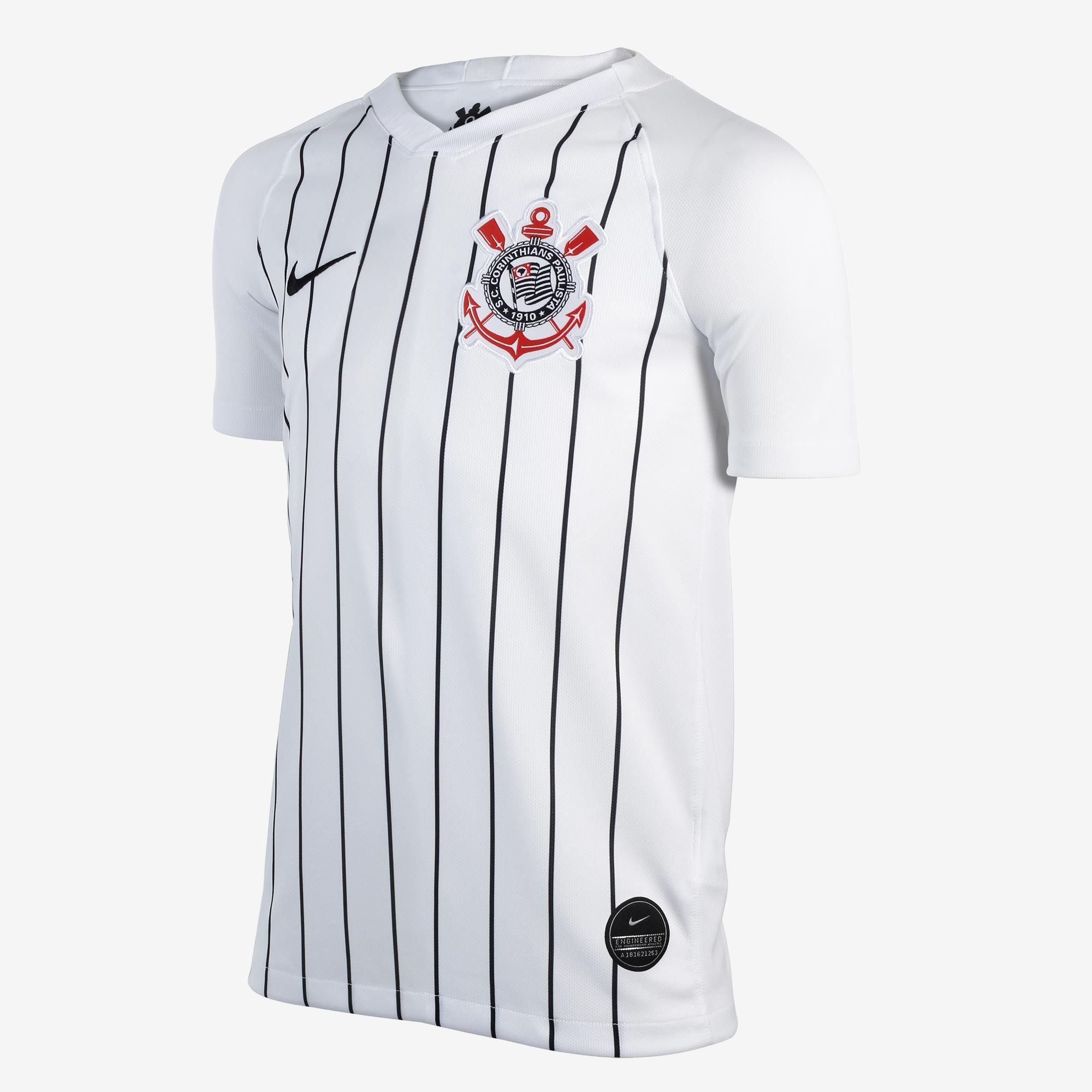 Camisa Corinthians I Nike 2019/20 Infantil