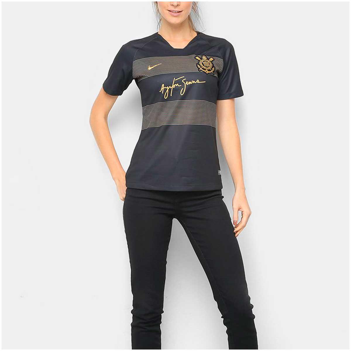 Camisa Corinthians III Nike Senna 2018/19 Feminina