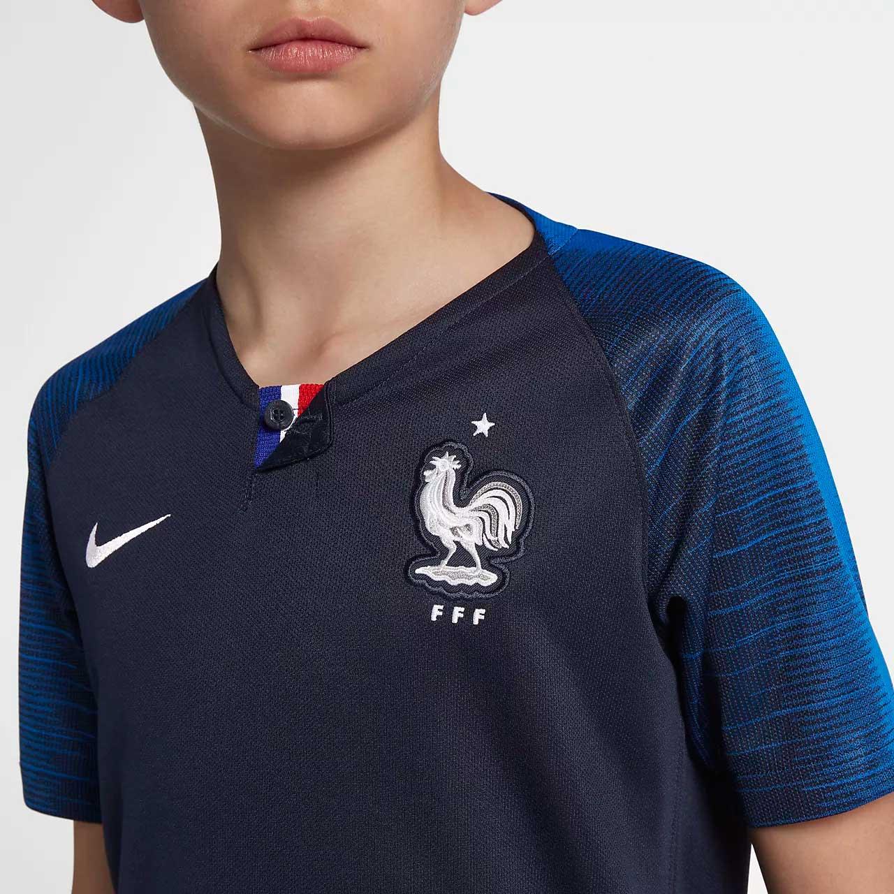 Camisa França Home Nike 2018 Infantil