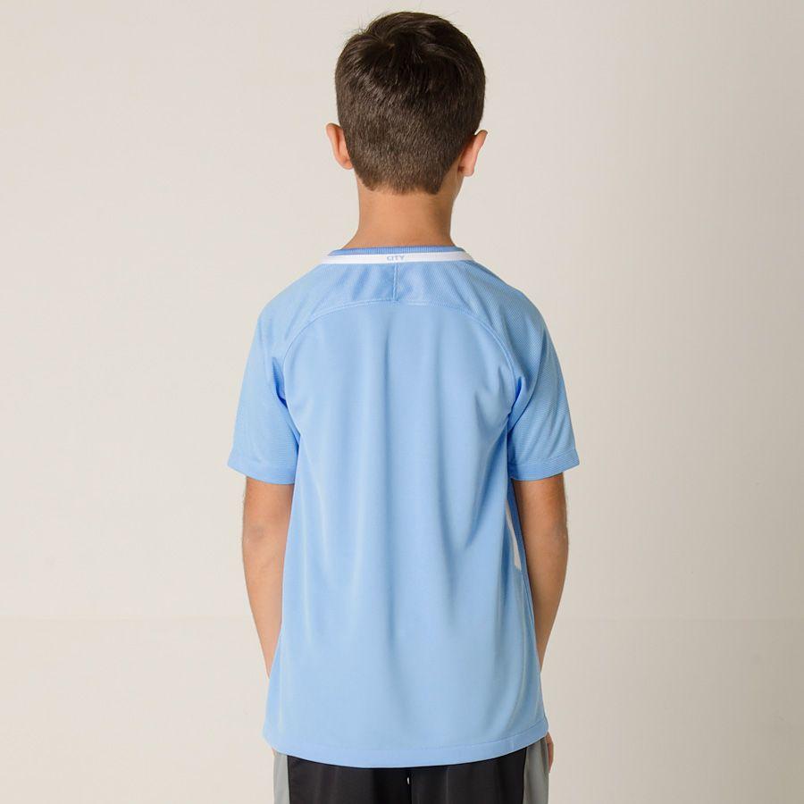 Camisa Manchester City I HOME 2017/2018 Infantil