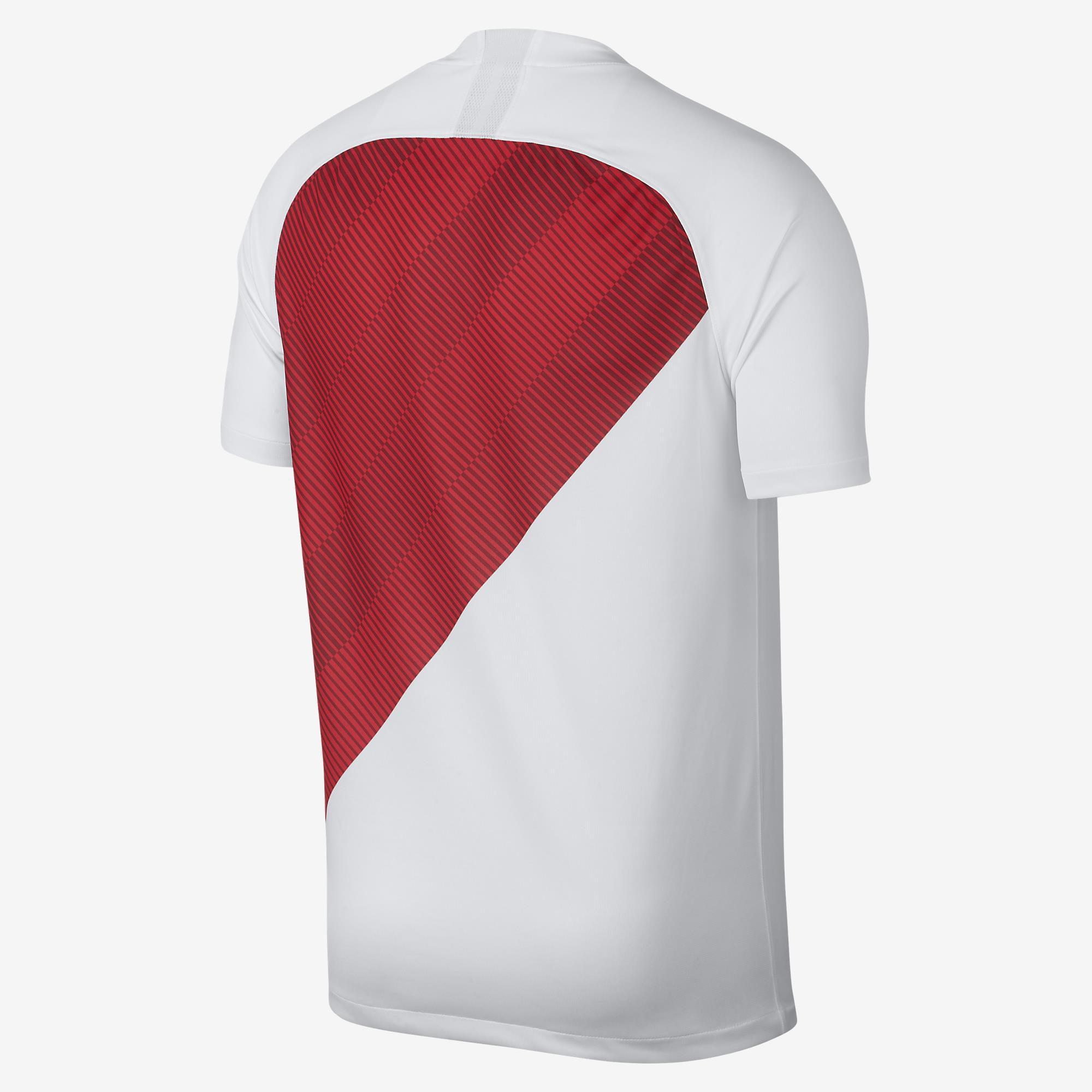Camisa Monaco I 2018/2019 Branco+ Vermelho
