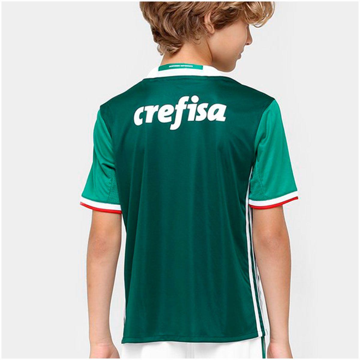 Camisa Palmeiras I Adidas 2016/17 Infantil