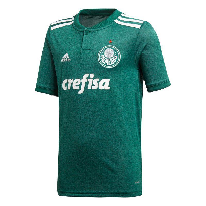 Camisa Palmeiras I Adidas 2018 Infantil