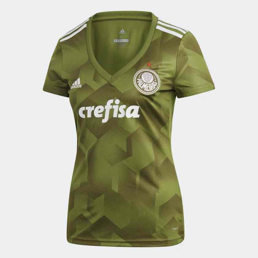 Camisa Palmeiras III Adidas 2018 Feminina