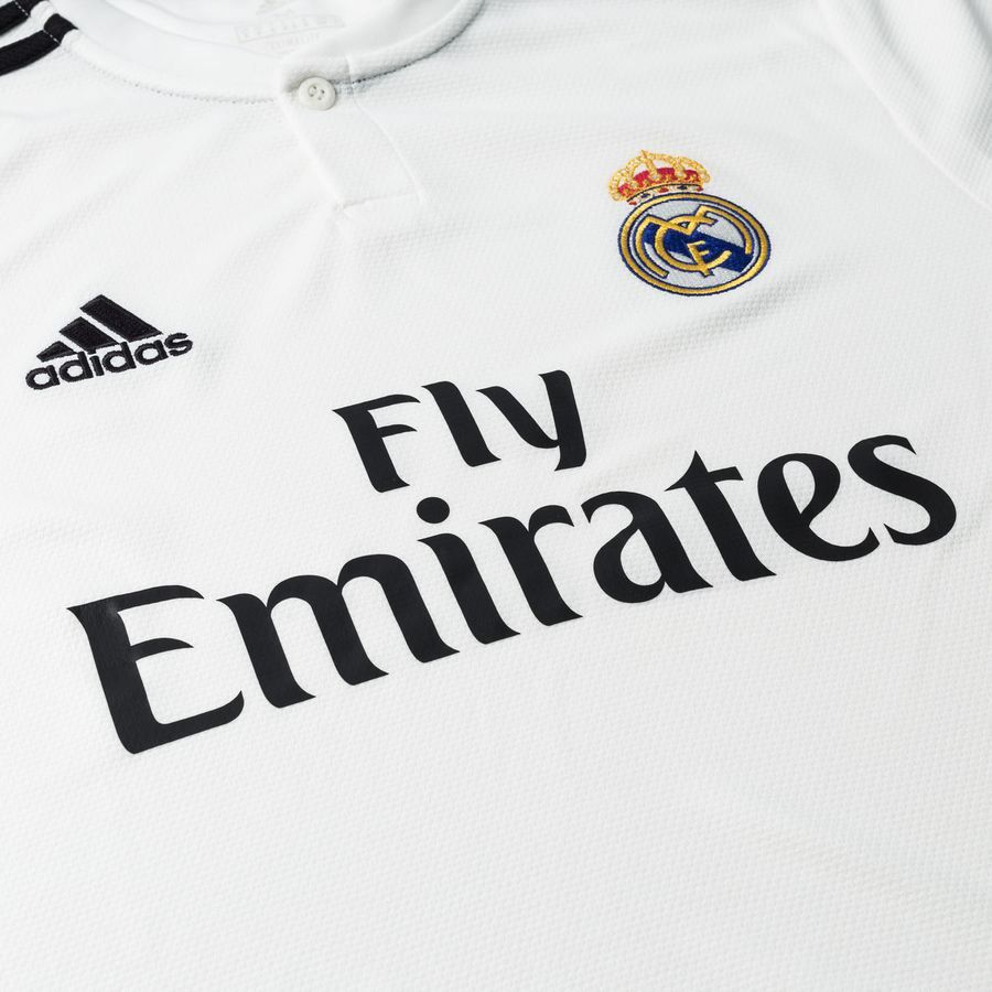 Camisa Real Madrid Home Adidas 2018/19 Infantil