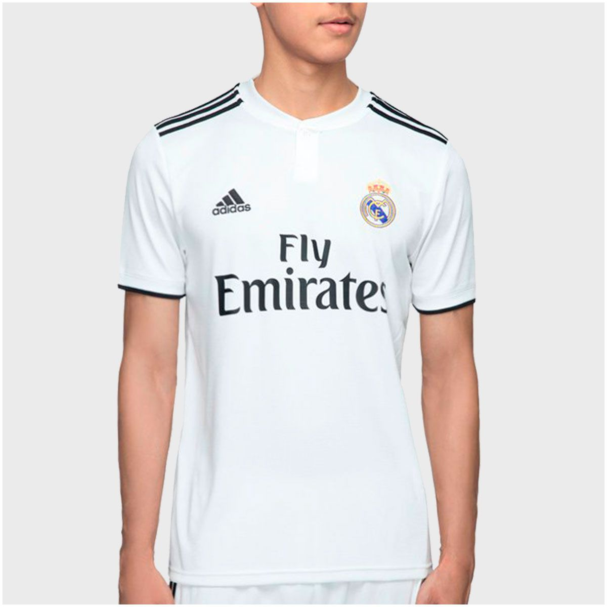 Camisa Real Madrid Home Adidas 2018 Infantil 6ff30dacabba0