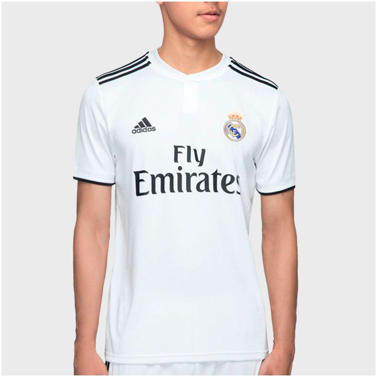 731615ae30 Camisa Real Madrid Home Adidas 2018 Infantil