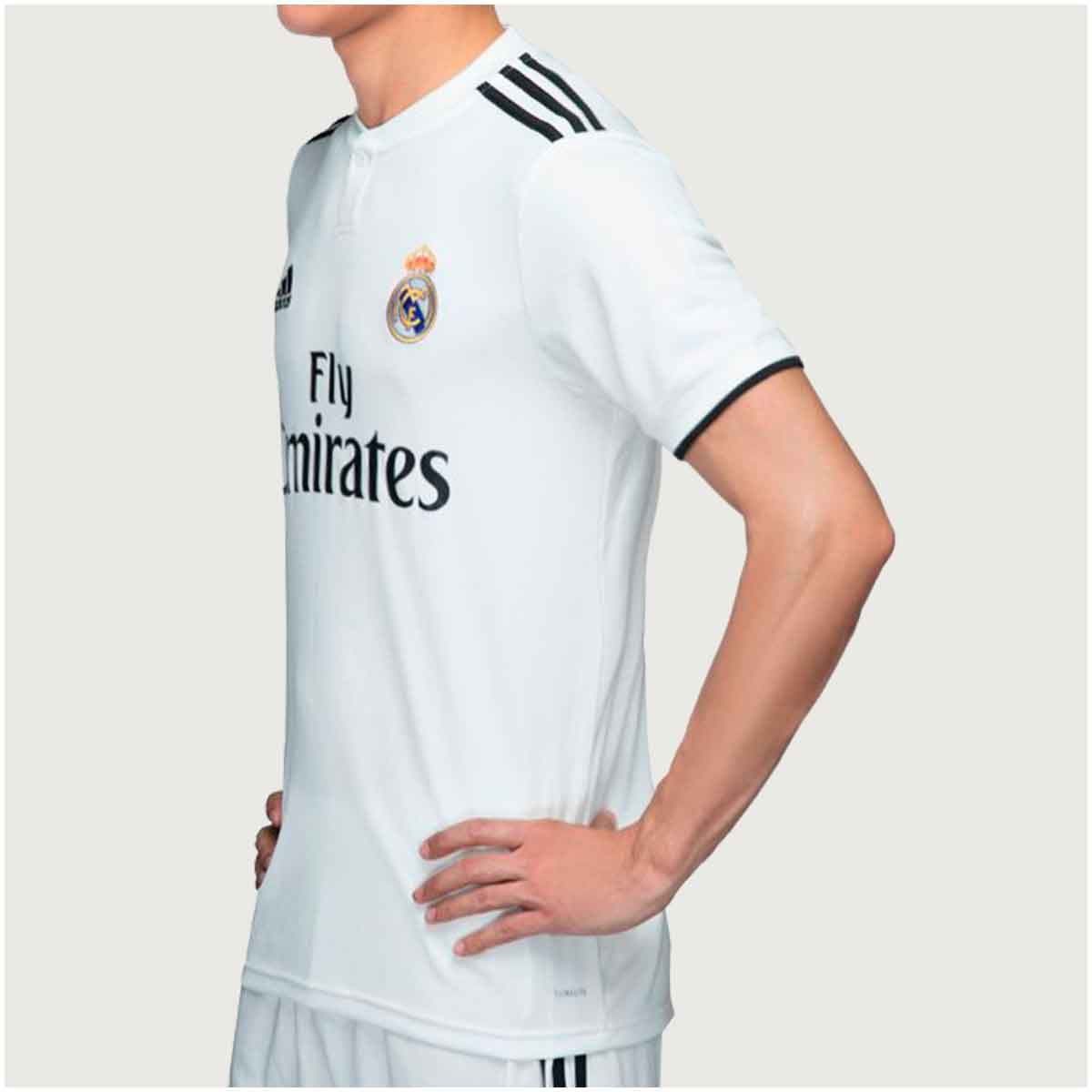 Camisa Real Madrid Home Adidas 2018 Infantil dfdf81c912e5b