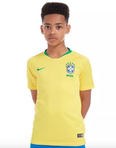 Camisa Seleção Brasileira I 2018 Oficial Infantil eb09adf8c5505