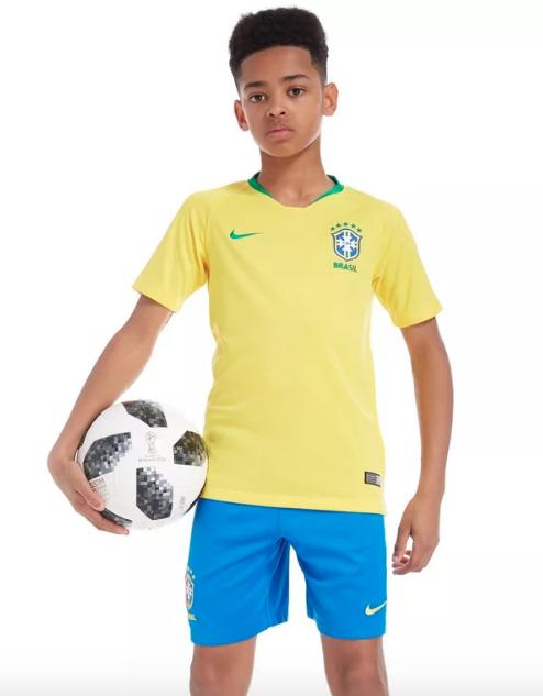 Camisa Brasil Home 2018 Infantil
