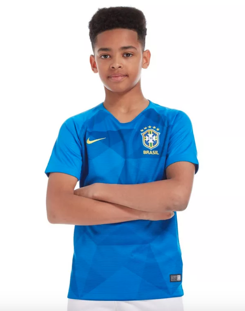 3b99034985 Camisa Seleção Brasileira II 2018 Oficial Infantil