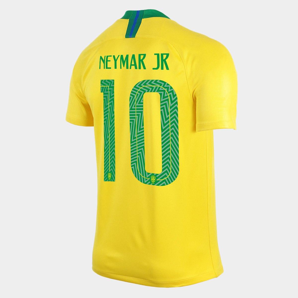 2c0f7df4375bf Camisa Brasil I Nike 2018 nº 10 Neymar Jr. - Futebol Cia - Paixao por  Futebol ...