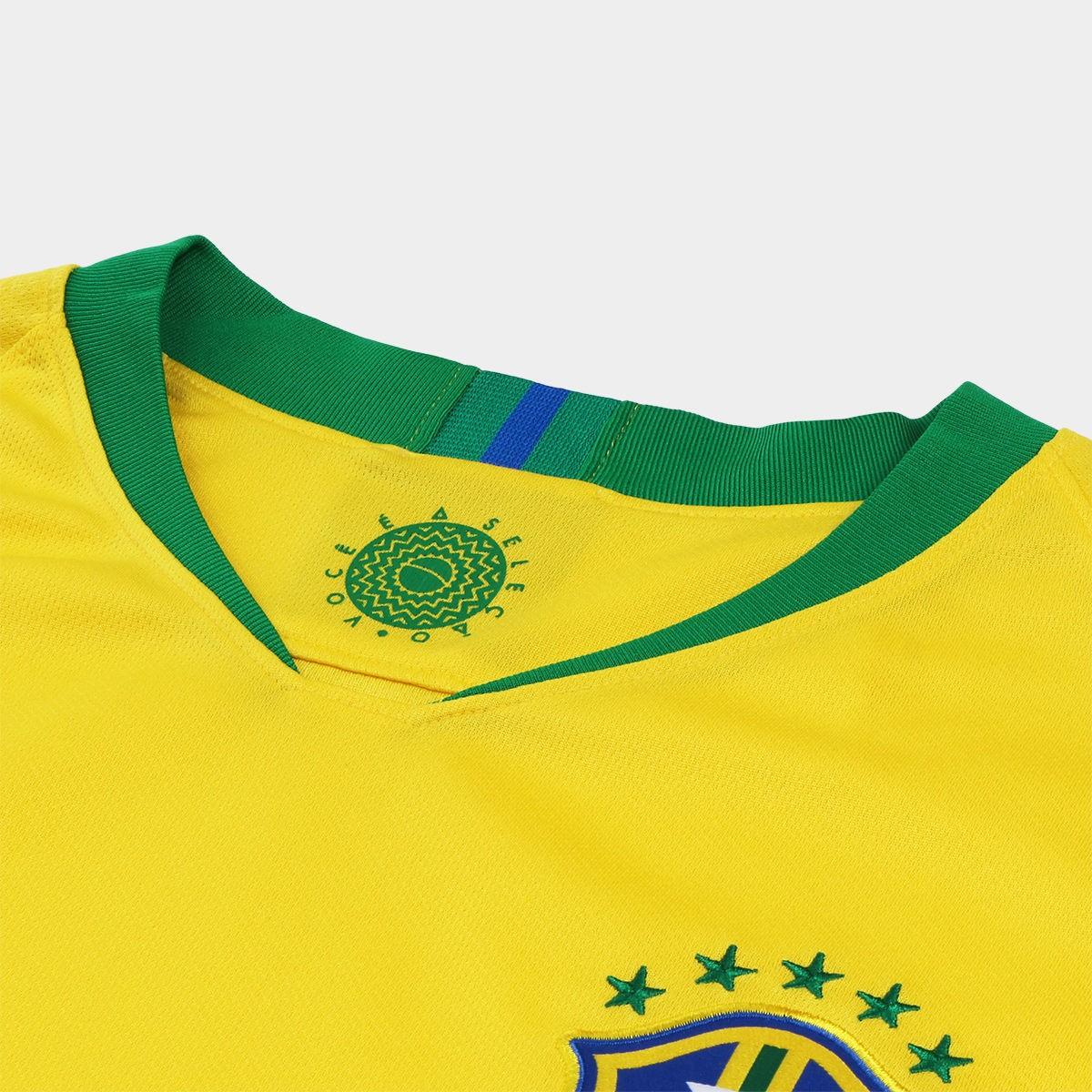 2e8434af36 Camisa Brasil I Nike 2018 nº 10 Neymar Jr.