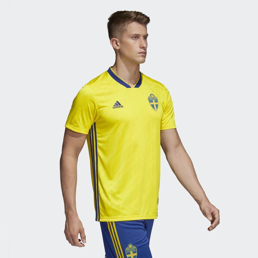 Camisa Suécia Home Adidas 2018