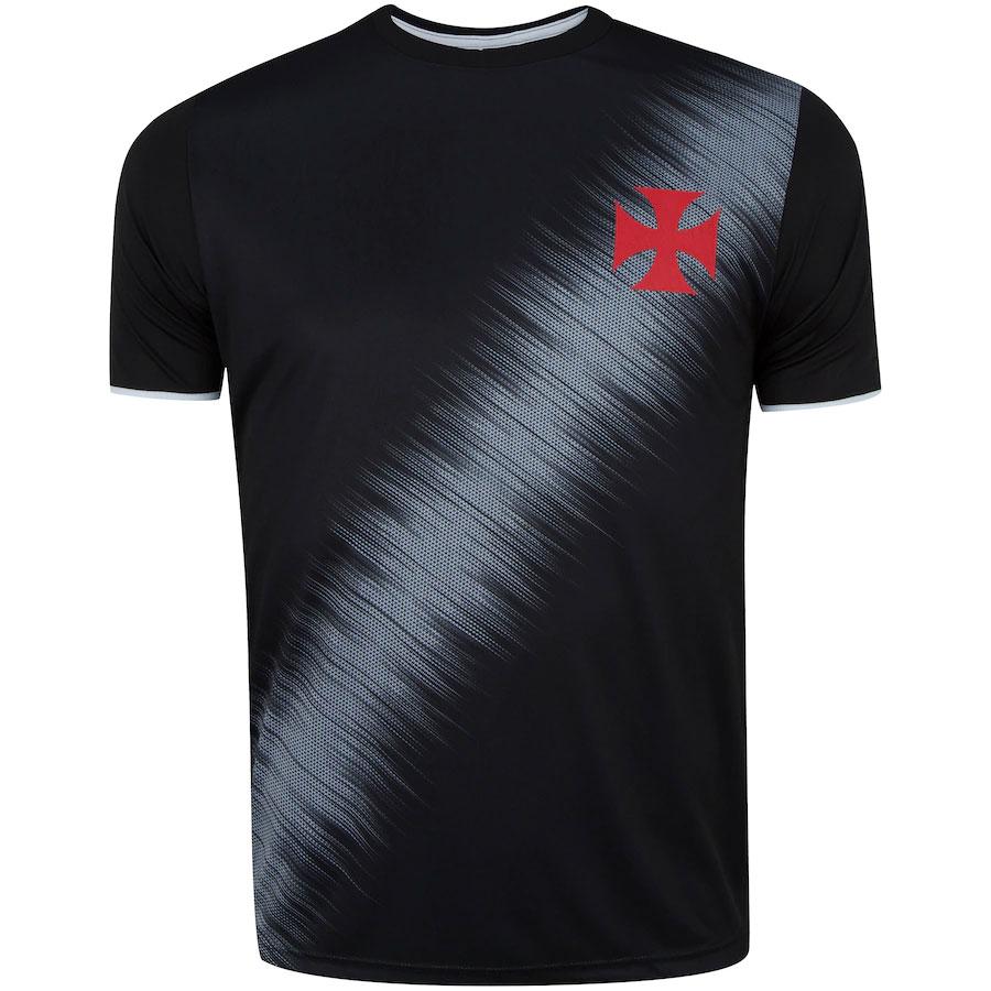 Camisa Vasco Braziline Part Masculina 100% Polister Preto