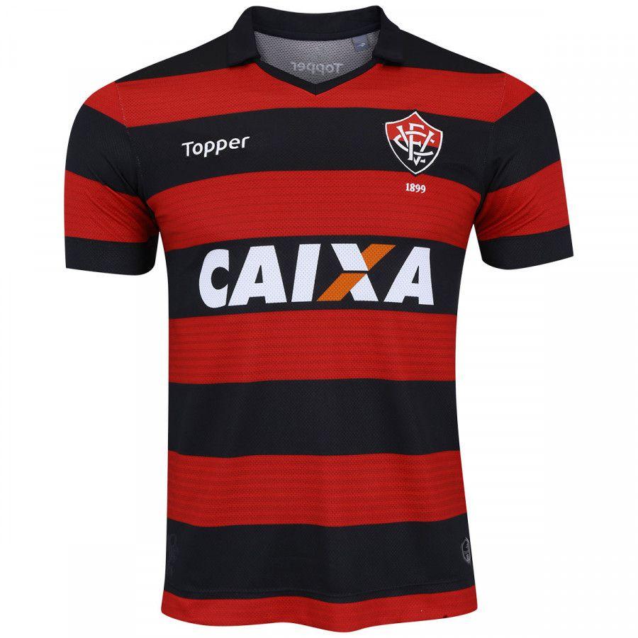 Camisa Vitória I Oficial 2017 2018 Masculina c48ab9b33c95d