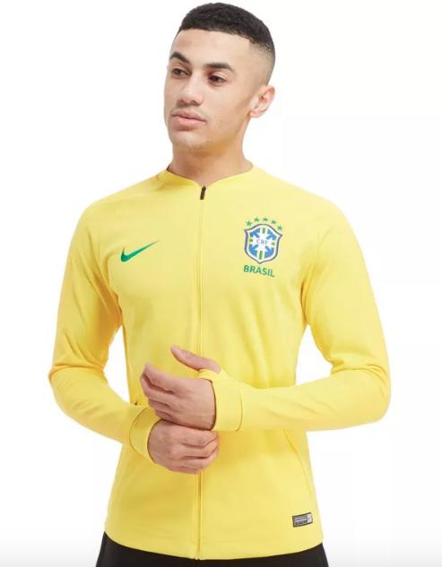 Jaqueta Brasil I Strike Anthem Nike 2018 61f865e00efea