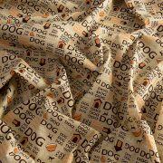 TECIDO GORGURINHO 1,50 LARG. - DOG BEGE COR 21