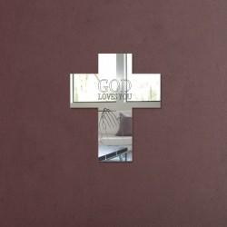 Espelho Decorativo Cruz God Loves You