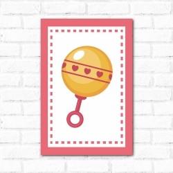 Placa Decorativa Chocalho Menina