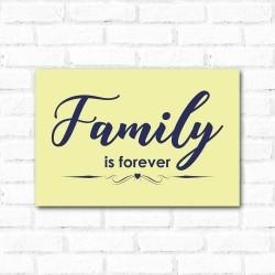 Placa Decorativa Family is Forever