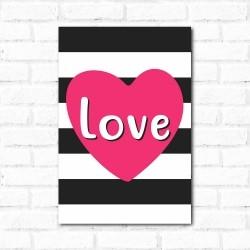 Placa Decorativa Love Listras