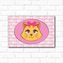Placa Decorativa Porta Retrato Gatinha