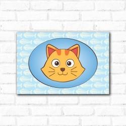 Placa Decorativa Porta Retrato Gato