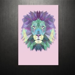 Poster Triangle lion
