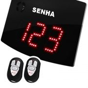 Agilize Slim 25 S - Painel Senhas Sequenciais 24x18 cm com Controle Wi