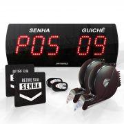 Agilize Slim 625 SG - Painel de Senha e Guichê com 2 Controles e 2 Dispensadores - 38x14 cm